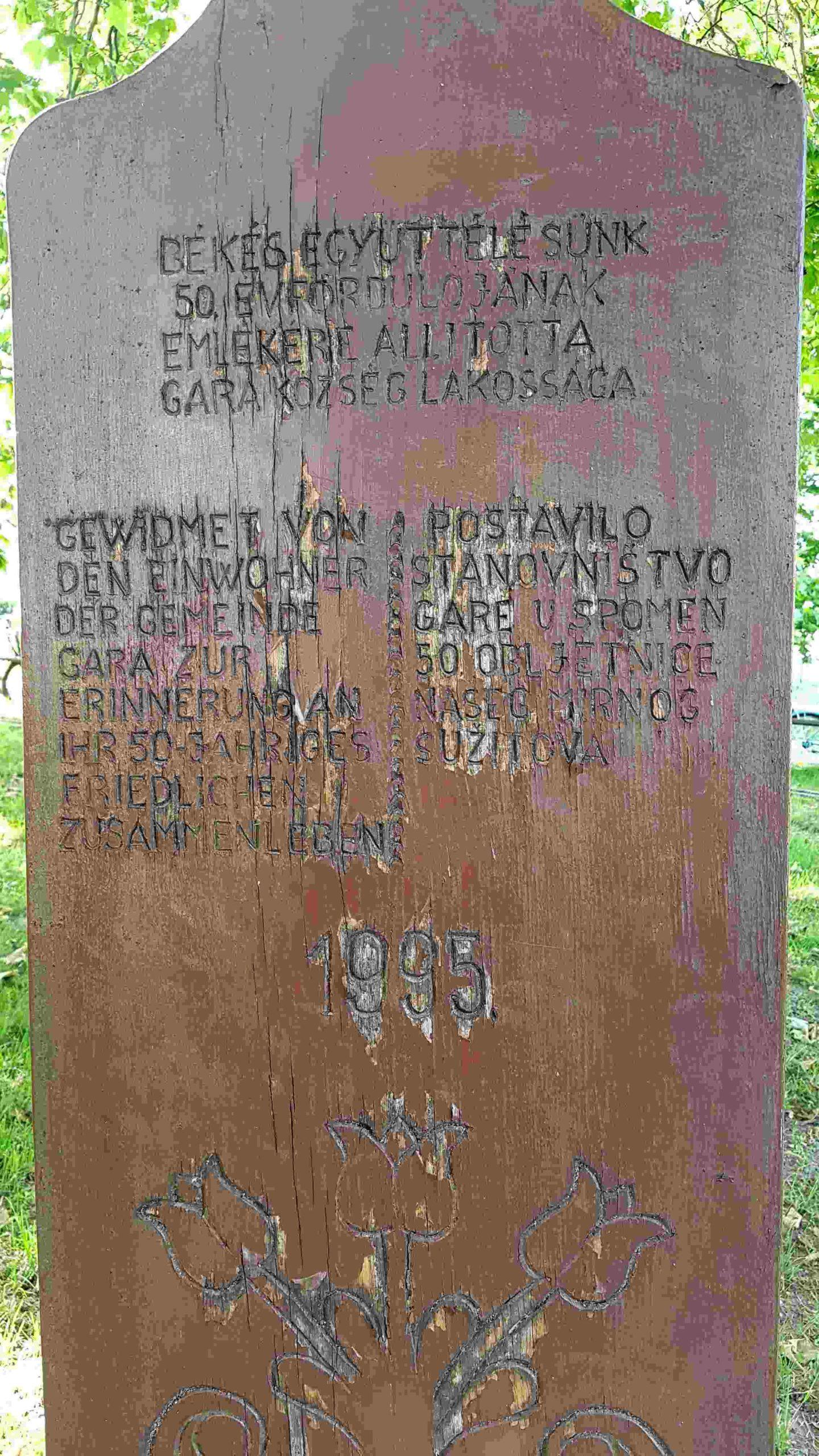 Read more about the article 50 Jahre friedliches Zusammenleben dreier Volksgruppen in Gara/Südungarn 1995