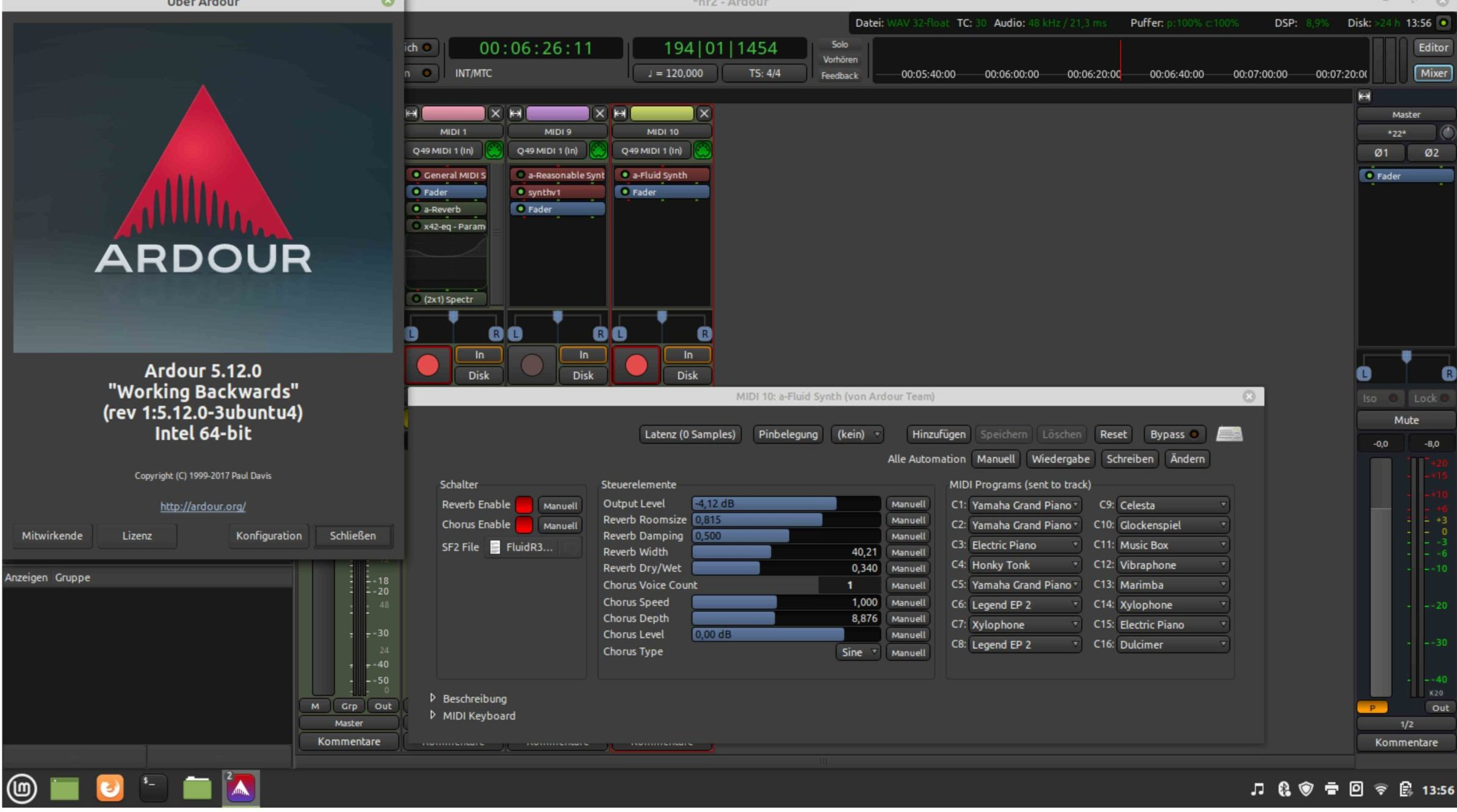 Read more about the article Linux, Ardour, Synths