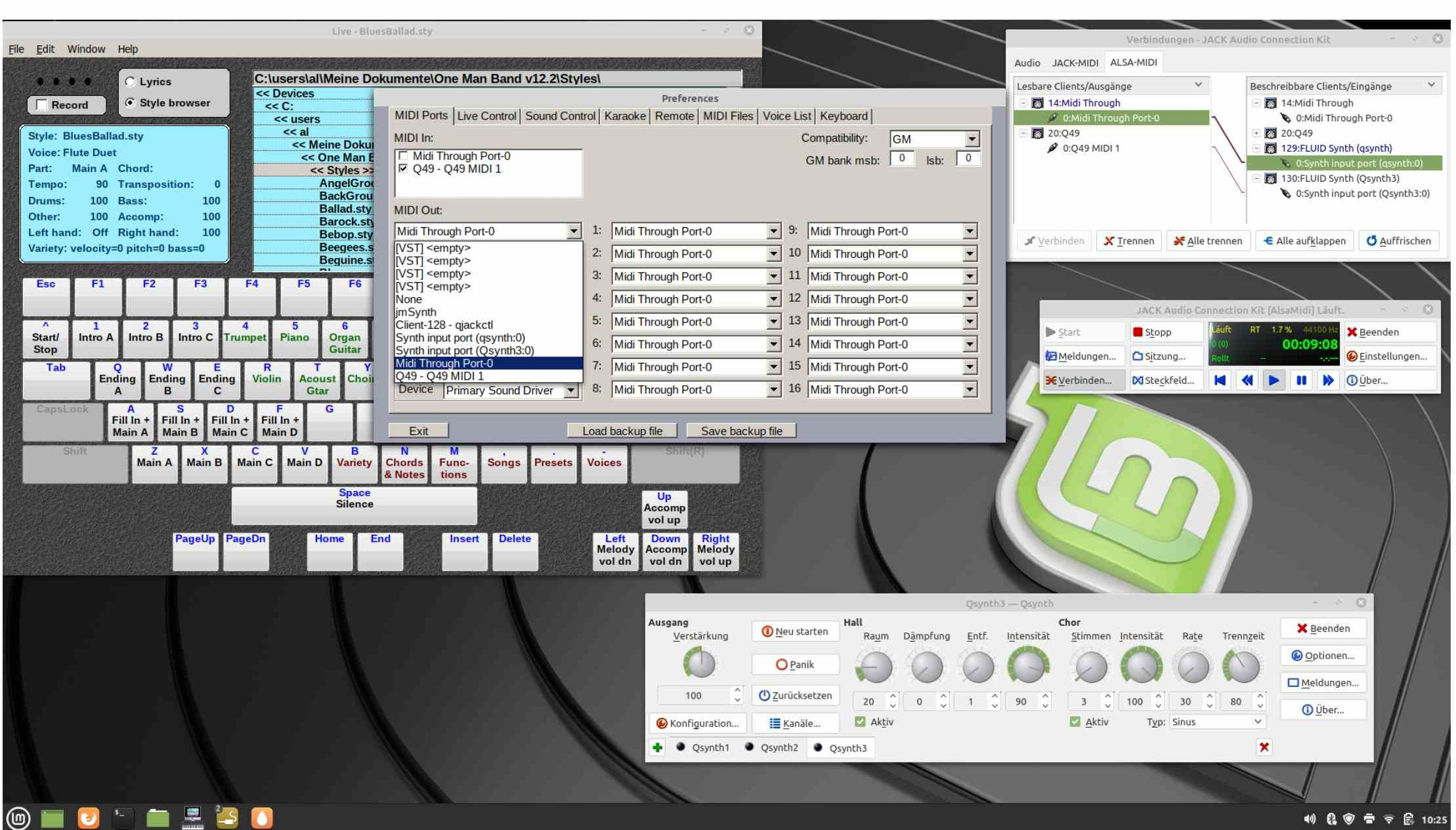 Read more about the article OneManBand with Linux