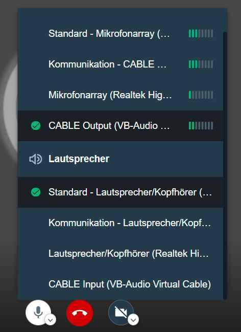 Jitsi Audio
