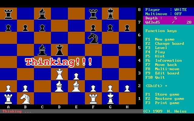 Schachprogramm von 1989 kann bereits denken!