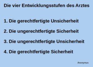 Read more about the article Die vier Entwicklungsstufen des Arztes